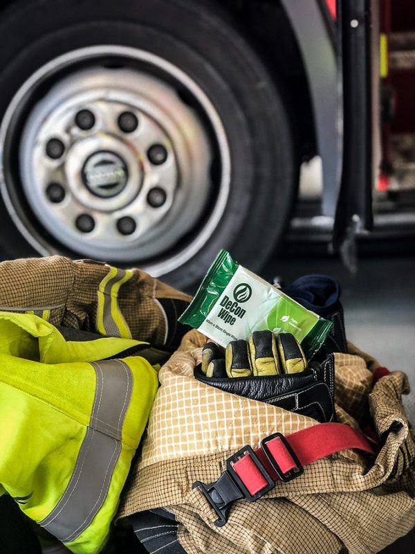 De-Wipe Fire Equipment Close-Up