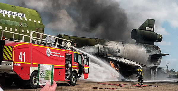 De-Wipe at International Fire Training Centre
