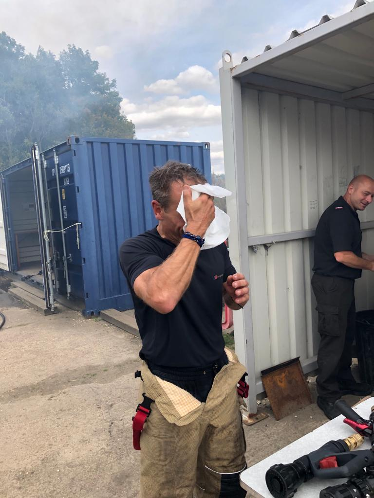 De-Wipe being used to decontaminate after training.