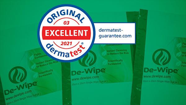 De-Wipe Dermatologically Tested