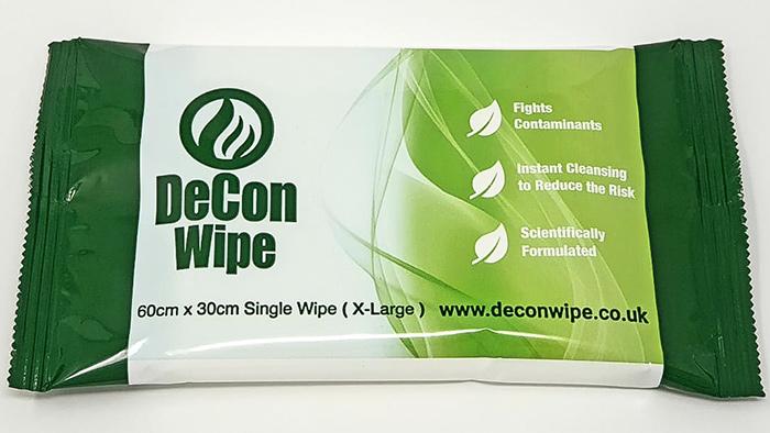 De-Wipe Decontamination Wipe Individual Wipe 60x30cm