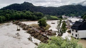 Picture Showing Flooded River in Germany